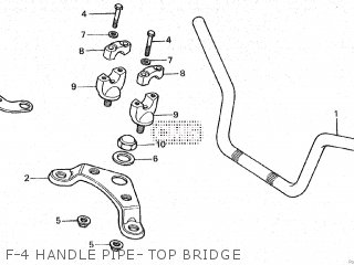 Honda Cy80 1979 z France F-4 Handle Pipe- Top Bridge