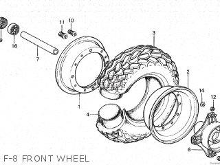Honda Cy80 1979 z France F-8 Front Wheel