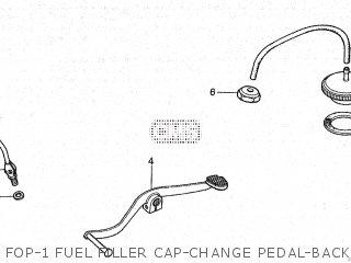 Honda Cy80 1979 z France Fop-1 Fuel Filler Cap-change Pedal-back Mirror