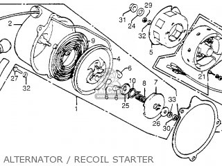 Honda Fl250 1984 Usa Alternator   Recoil Starter