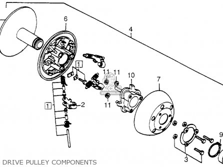 Honda Fl250 1984 Usa Drive Pulley Components