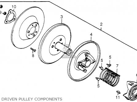 Honda Fl250 1984 Usa Driven Pulley Components