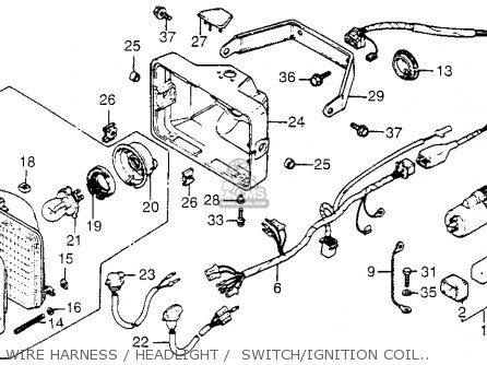 Honda Fl250 1984 Usa Wire Harness   Headlight    Switch ignition Coil 81-84