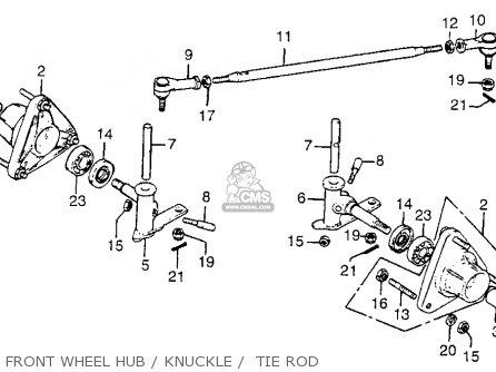 Honda Fl250 Odyssey 1977 Usa Front Wheel Hub   Knuckle    Tie Rod