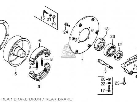 Honda Fl250 Odyssey 1977 Usa Rear Brake Drum   Rear Brake