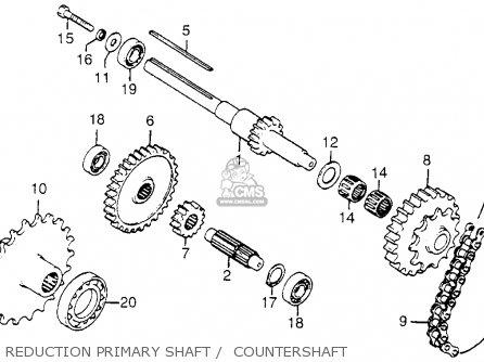 Honda Fl250 Odyssey 1977 Usa Reduction Primary Shaft    Countershaft