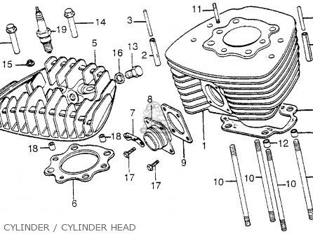 Honda Fl250 Odyssey 1980 a Usa Cylinder   Cylinder Head