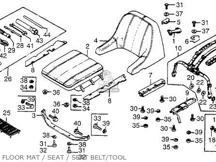 Honda Fl250 Odyssey 1980 a Usa Floor Mat   Seat   Seat Belt tool