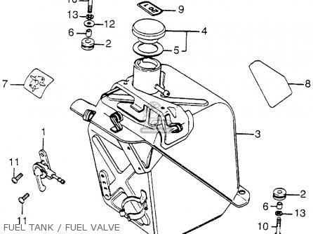 Honda Fl250 Odyssey 1980 a Usa Fuel Tank   Fuel Valve