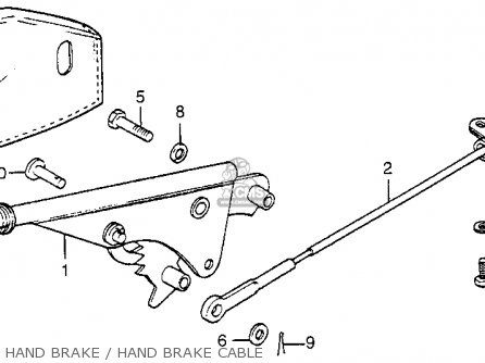 Honda Fl250 Odyssey 1980 a Usa Hand Brake   Hand Brake Cable