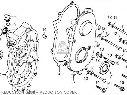 Honda Fl250 Odyssey 1980 a Usa Reduction Case   Reduction Cover
