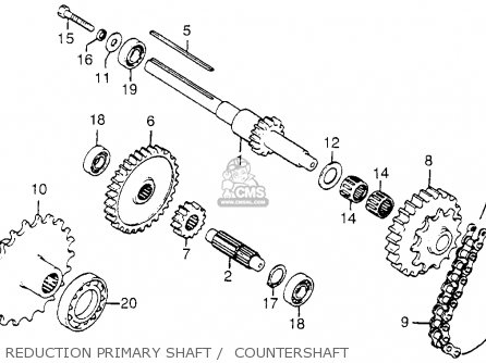 Honda Fl250 Odyssey 1980 a Usa Reduction Primary Shaft    Countershaft