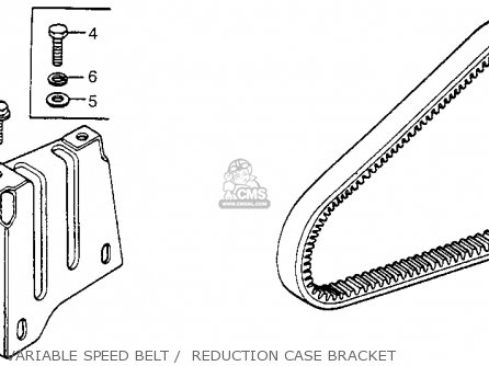 Honda Fl250 Odyssey 1980 a Usa Variable Speed Belt    Reduction Case Bracket
