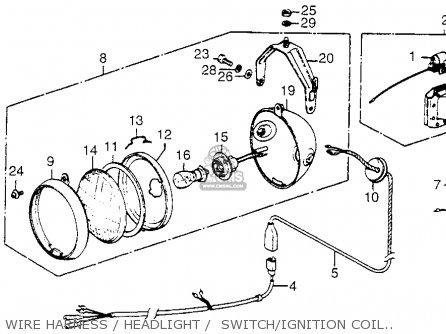 Honda Fl250 Odyssey 1980 a Usa Wire Harness   Headlight    Switch ignition Coil 80