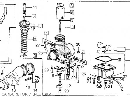 Honda Fl250 Odyssey 1980 Usa Carburetor   Inlet Pipe