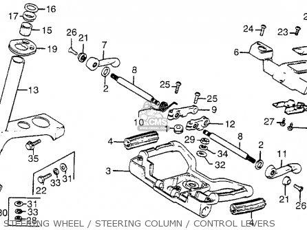 Honda Fl250 Odyssey 1980 Usa Steering Wheel   Steering Column   Control Levers
