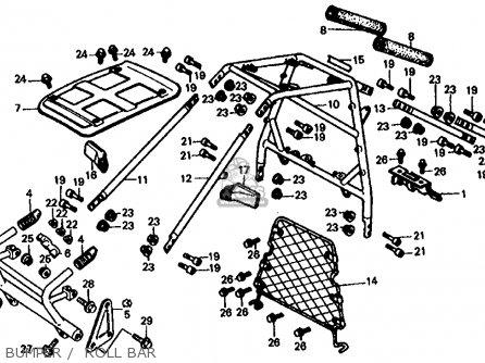 Honda Fl350r Odyssey 350 1985 f Usa Bumper    Roll Bar
