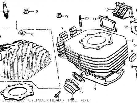 Honda Fl350r Odyssey 350 1985 f Usa Cylinder    Cylinder Head    Inlet Pipe