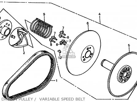 Honda Fl350r Odyssey 350 1985 f Usa Driven Pulley    Variable Speed Belt