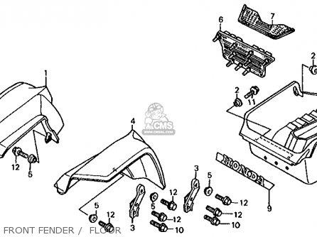 Honda Fl350r Odyssey 350 1985 f Usa Front Fender    Floor