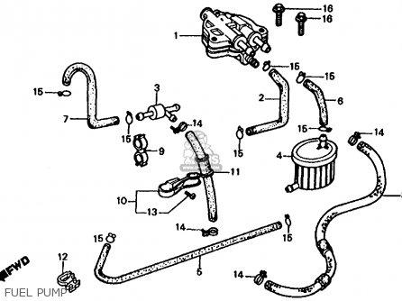 Honda Fl350r Odyssey 350 1985 f Usa Fuel Pump