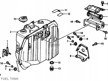 Honda Fl350r Odyssey 350 1985 f Usa Fuel Tank