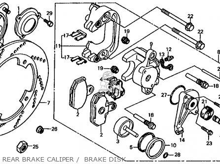 Honda Fl350r Odyssey 350 1985 f Usa Rear Brake Caliper    Brake Disk