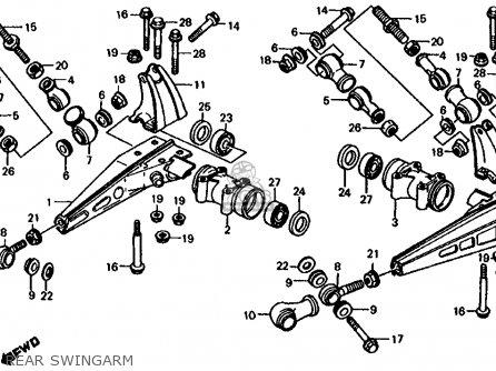 Honda Fl350r Odyssey 350 1985 f Usa Rear Swingarm