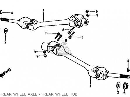Honda Fl350r Odyssey 350 1985 f Usa Rear Wheel Axle    Rear Wheel Hub