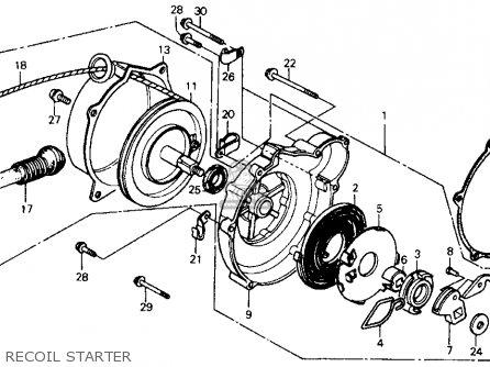 Honda Fl350r Odyssey 350 1985 f Usa Recoil Starter
