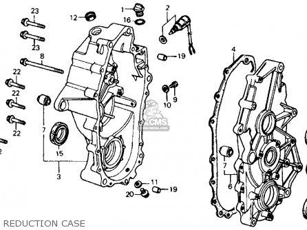 Honda Fl350r Odyssey 350 1985 f Usa Reduction Case