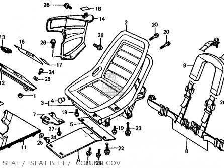 Honda Fl350r Odyssey 350 1985 f Usa Seat    Seat Belt    Column Cov