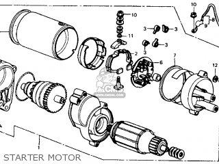Honda Fl350r Odyssey 350 1985 f Usa Starter Motor