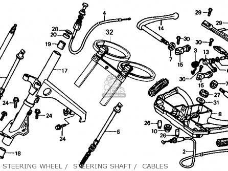 Honda Fl350r Odyssey 350 1985 f Usa Steering Wheel    Steering Shaft    Cables