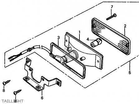 Honda Fl350r Odyssey 350 1985 f Usa Taillight