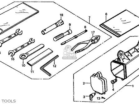 Honda Fl350r Odyssey 350 1985 f Usa Tools