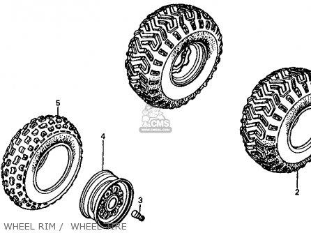 Honda Fl350r Odyssey 350 1985 f Usa Wheel Rim    Wheel Tire
