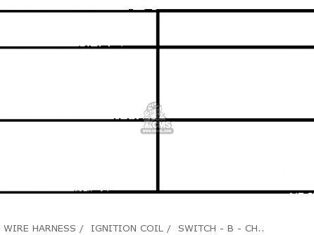 Honda Fl350r Odyssey 350 1985 f Usa Wire Harness    Ignition Coil    Switch - B - Chart