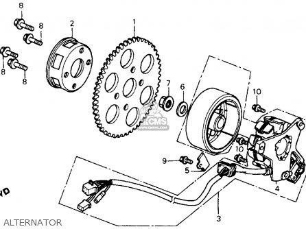 Honda Fl350r Odyssey 350 Usa Alternator