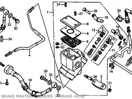 Honda Fl350r Odyssey 350 Usa Brake Master Cylinder    Brake Hose