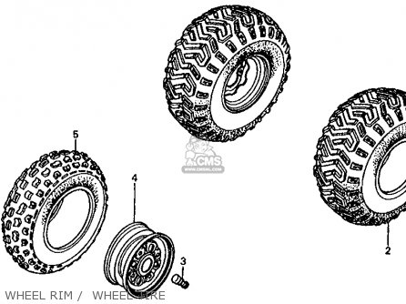 Honda Fl350r Odyssey 350 Usa Wheel Rim    Wheel Tire