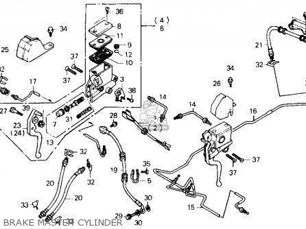 Honda Fl400r Pilot 1990 l Usa Brake Master Cylinder