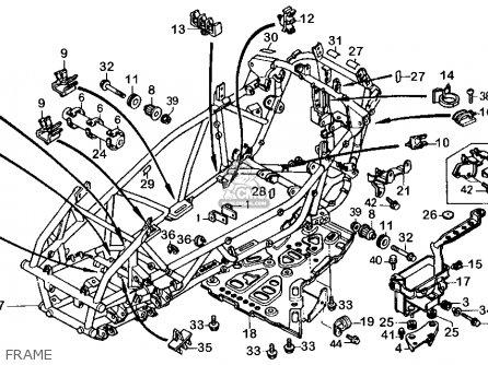 Honda Fl400r Pilot 1990 l Usa Frame