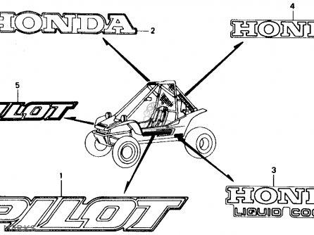 Honda Fl400r Pilot 1990 l Usa Marks