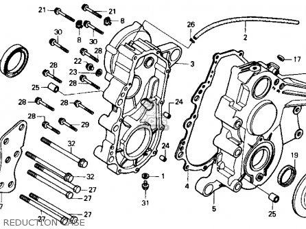 Honda Fl400r Pilot 1990 l Usa Reduction Case