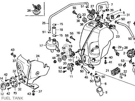 Honda Fl400r Pilot 1990 Usa Fuel Tank