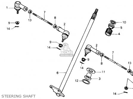 Honda Fl400r Pilot 1990 Usa Steering Shaft