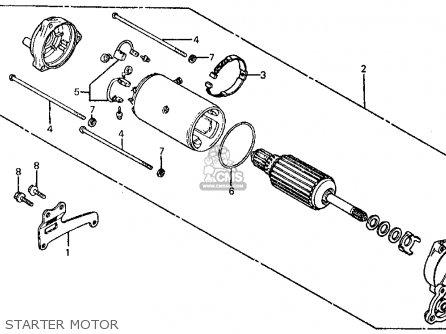 Honda Ft500 Ascot 1982 c Usa Starter Motor
