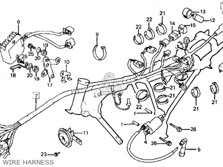 Honda Ft500 Ascot 1982 Usa Wire Harness Schematic Partsfiche