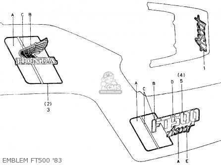 Honda Ft500 Ascot 1983 D Usa Parts Lists And Schematics